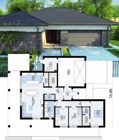 ... Modern Small House Design, Sims 4 Build, Bungalows, Kids Bedroom, Magnolia, House Plans, Floor Plans, Layout, Flooring