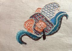 Jacobean motif worked by Marilyn McNeill