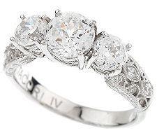 Tacori Engagement Rings: ※ Compare Tacori IV Diamonique Epiphany Crescent Lace Bloom Cut Ring