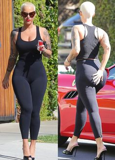 Amber Rose displays dangerous curves as she goes house hunting in LA(Photos)