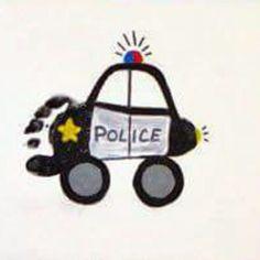 Police car footprint