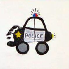 Police car footprint