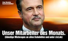 Sixt »Mitarbeiter des Monats«, Print- und Onlinekampagne, Kreation: Jung von Matt, Quelle: www.sixt.de, www.wuv.de/marketing/jung_von_matt_macht_weselsky_zum_sixt_mitarbeiter_des_monats