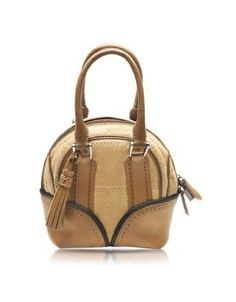 Pineider 1774 Limited Edition Micro Leather Bowling Bag Beige. Totally Cute! $839.99