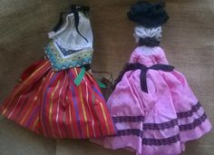 Gorgeous Philippe and Alice Simon Tagged Dolls. French Folk Costume Dolls. One…