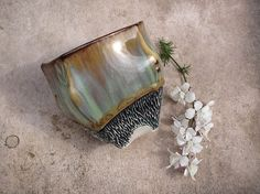 Flowing Glaze Succulent Planter or Orchid Pot in by Lithology, $42.00