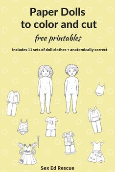 Free printable paperdolls (genitals included) with 11 sets of clothes! A great activity to do with your child and to start talking about bodies (and their different bits). Activities To Do, Educational Activities, Printable Worksheets, Free Printables, Printable Cards, Parenting Advice, Kids And Parenting, Dolls With Long Hair, Paper Dolls Printable