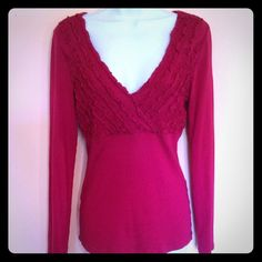 ️EXPRESS RED TOP  Pre-owned, great condition Express Tops