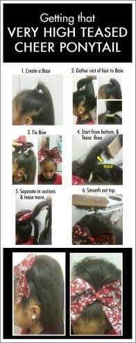 Ideas Sport Hairstyles For Girls Pony Tails Cheer Hair Ideas Sport Hairstyles For Girls Pony Cheer Ponytail, Teased Ponytail, All Star Cheer, Cheer Mom, Cheer Stuff, Cheer Makeup, Fierce, Competition Hair, Cheer Practice