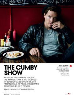 VOGUE (December 2014) ~ Benedict Cumberbatch interview about THE IMITATION GAME, SHERLOCK, and more. (Page 1 of 6)