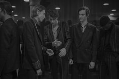 Backstage at the Paul Smith Men's Autumn/Winter '16 show.