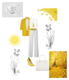 """Untitled #1689"" by fanisikelianou ❤ liked on Polyvore featuring River Island, Effy Jewelry, Alberta Ferretti, Charles by Charles David and Prada"