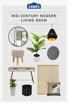 Refresh your living room to a mid-century modern haven with these decor options. Mid Century Modern Living Room, Home Upgrades, Big Girl Rooms, My New Room, Living Room Decor, Dining Room, Mid-century Modern, Family Room, Sweet Home