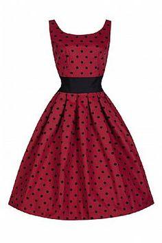 vintage allday πουά φόρεμα Lane