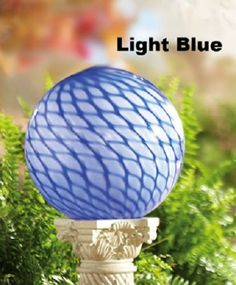 Round Elegant Blue & White Swirl Pattern Glass Garden Gazing Ball New Collections Etc, Ball Lights, Swirl Pattern, Glass Garden, Garden Supplies, Home Gifts, House Warming, Blue And White, Garden Sculptures