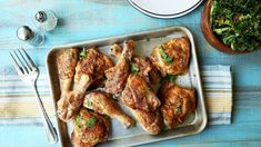 Crispy Baked Chicken Leg Quarters Very Easy, One Dish) Recipe - Genius Kitchen