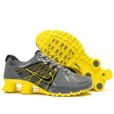 Nike Shox Agent+ Grey Yellow Men Shoes Sale: $79.59