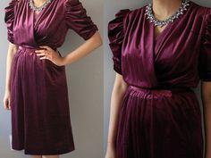 Check out this item in my Etsy shop https://www.etsy.com/listing/249779790/vintage-purple-velvet-dress-velvet-dress