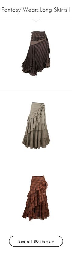 """""""Fantasy Wear: Long Skirts I"""" by savagedamsel ❤ liked on Polyvore featuring skirts, bottoms, saias, steampunk, steampunk skirt, checked skirt, nicholas k, checkered skirt, steam punk skirt and dresses"""