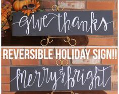 Rustic Holiday Decor Rustic Holiday Sign by LilyandVal on Etsy