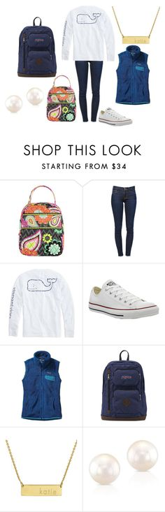 """everyday!"" by mbeltrand on Polyvore featuring Vera Bradley, Frame Denim, Vineyard Vines, Converse, Patagonia, JanSport, Initial Reaction, women's clothing, women's fashion and women"