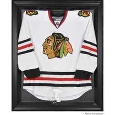 Chicago Blackhawks Black Framed Logo Jersey Display Case