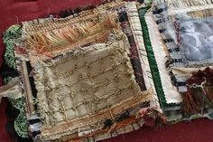 Art journal inspiration. Rambling Rose. Typepad blog. Birds of a feather fabric journal (5)