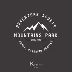 Mountain Logo. Sport Logo Design. Adventure Logo. Vintage Logo Design. Outdoor Logo. PSD Template. Watermark Brand Logo. Park Logo. DIY Logo by KreativDesk on Etsy