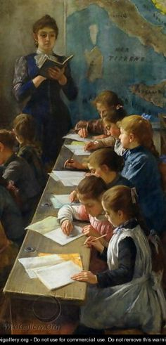 The Dictation Lesson, 1891 - Demetrio Cosola