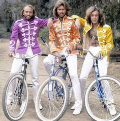 Bee Gees' on bikes.