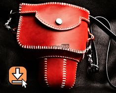 Leather pattern PDF template and video tutorial for hand crafting a camera case Leather Craft, Leather Bag, Used Saddles, Leather Working Patterns, Leather Pattern, Camera Case, Star Patterns, Fashion Backpack, Pdf