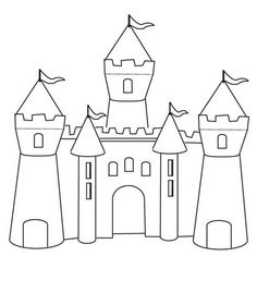 Print Castle Coloring Page coloring page & book. Your own Castle Coloring Page printable coloring page. With over 4000 coloring pages including Castle Coloring Page . Castle Coloring Page, Princess Coloring Pages, Coloring Pages To Print, Coloring Book Pages, Printable Coloring Pages, Coloring Pages For Kids, Simple Coloring Pages, Disney World Castle, Kids Castle