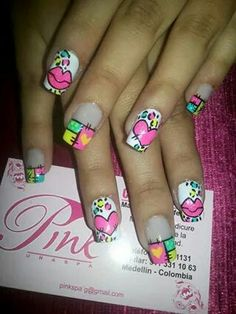 Learn how to create Valentines Day Nail Art Designs & Ideas for 2020 Red Gel Nails, Gel Nail Polish Set, Pretty Nail Designs, Nail Art Designs, Cute Nails, Pretty Nails, Glitter Gel, Nail Tutorials, Pink