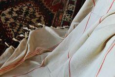 Puur XXL  hamamdoek te gebruiken als zomerdeken, plaid, picknickkleed, enz. Mooi! 100% katoen handgeweven.