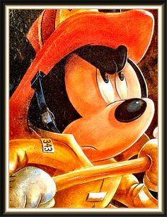Disney Mickey Mouse is a fire fighter