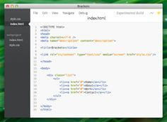 Brackets, HTML and CSS Text Editor http://www.siteraw.com