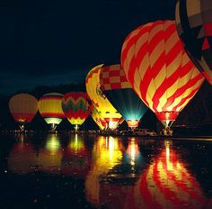 Hot air balloons!  This would be the ultimate surprise!!!