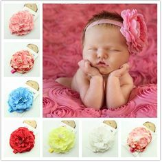 Baby Girl Headbands and Bows Flower,Newborn Headbands,Soft Cute Headband Hair Bows Accessories for Newborn Infant Toddler Gift 10 Pack