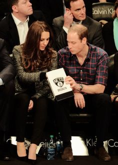 Kate and Wills sharing popcorn at the Nets game, NYC Dec. 2014