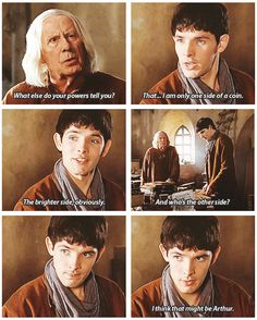 Merlin is in like my top three favorite tv shows I don't know where to put it so I say top three