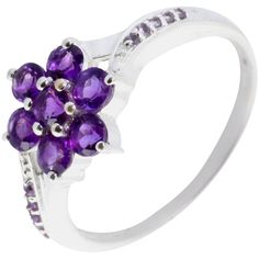 Faceted Amethyst & Sterling Silver Ring