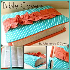 Ruffled Bible Covers.....Should be easy enough to make. Adorable!