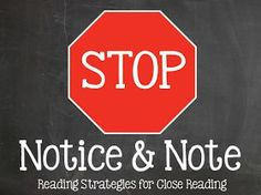 Notice & Note: Strategies for Close Reading Archives - Think, Wonder, &…