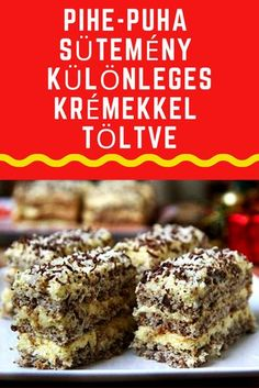 Hungarian Desserts, Hungarian Recipes, Sweets Recipes, Cake Recipes, Cooking Recipes, Smoothie Fruit, No Bake Cake, Breakfast Recipes, Food And Drink