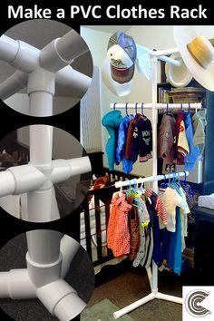Yard Sale Ideas Display Pvc Pipes 48 Ideas - All About Garden Pvc Shoe Racks, Diy Clothes Rack Pvc, Diy Clothes Organiser, Kids Clothes Storage, Clothing Racks, Shoe Storage, Pvc Pipe Rack, Pvc Pipe Storage, Sale Clothes