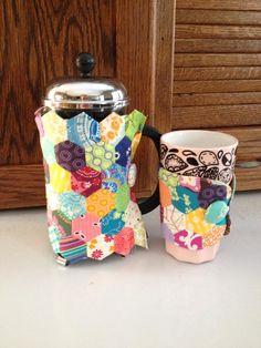 French Press warmer and coffee mug holder that I made :)