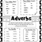 Adverb Anchor Chart that can be used as a reference tool for students. You can also put one in each of your student's binders as a study guide or t...