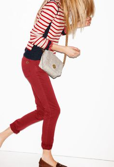 Classic denim jeans in a color that pops.