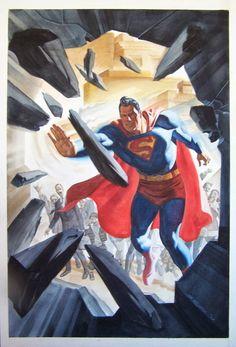 Original Comic Art entitled Steve Rude Superman For Sale in the September The Justice League of America Comic Art Sketchbook. Superman And Lois Lane, Superman Family, Superman Man Of Steel, Batman And Superman, Superman Stuff, Superman Artwork, Comic Book Artists, Comic Book Characters, Comic Character