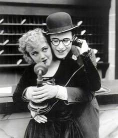 Vintage photograph of Harold Lloyd and Mildred Davis in a publicity shot for High and Dizzy, 1920 dstele.com